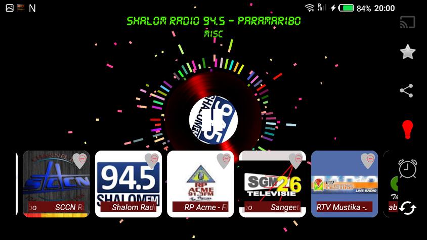 Suriname top radiozenders Screenshot
