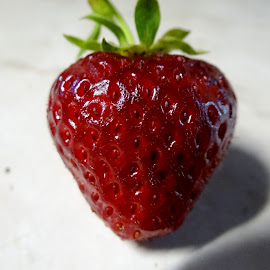 Fresh Strawberry by Paulette King - Food & Drink Fruits & Vegetables ( fruit, food, sweet fresh strawberry, strawberry, fresh fruit,  )