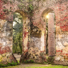 by Kelley Hurwitz Ahr - Buildings & Architecture Decaying & Abandoned ( charleston, building, old, church, historical buildings, january 2016, south carolina, sun, abandoned )