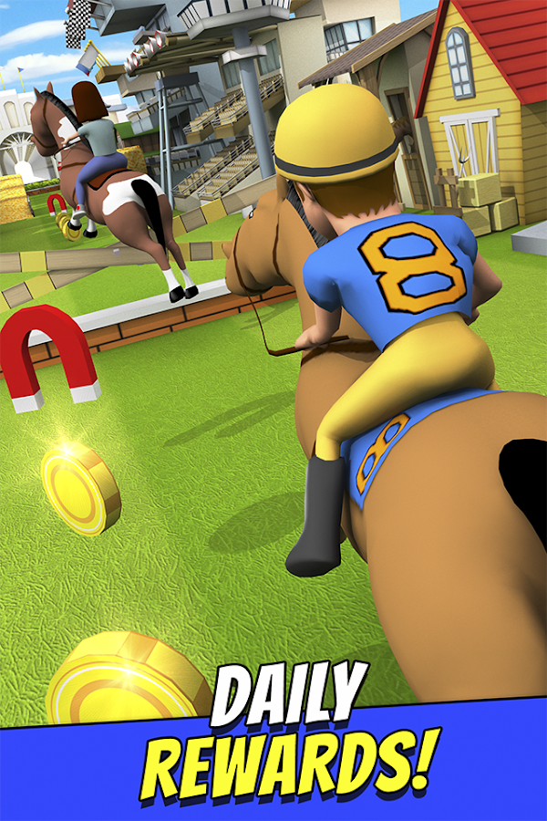 Cartoon Horse Riding Game Free Screenshot 1