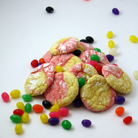 Easter Strawberry Lemon Crinkle Cookies