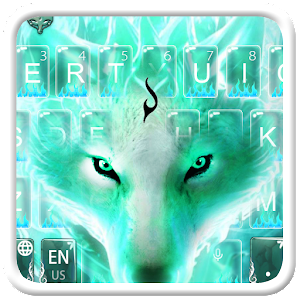 Green Fire Fox Keyboard Theme