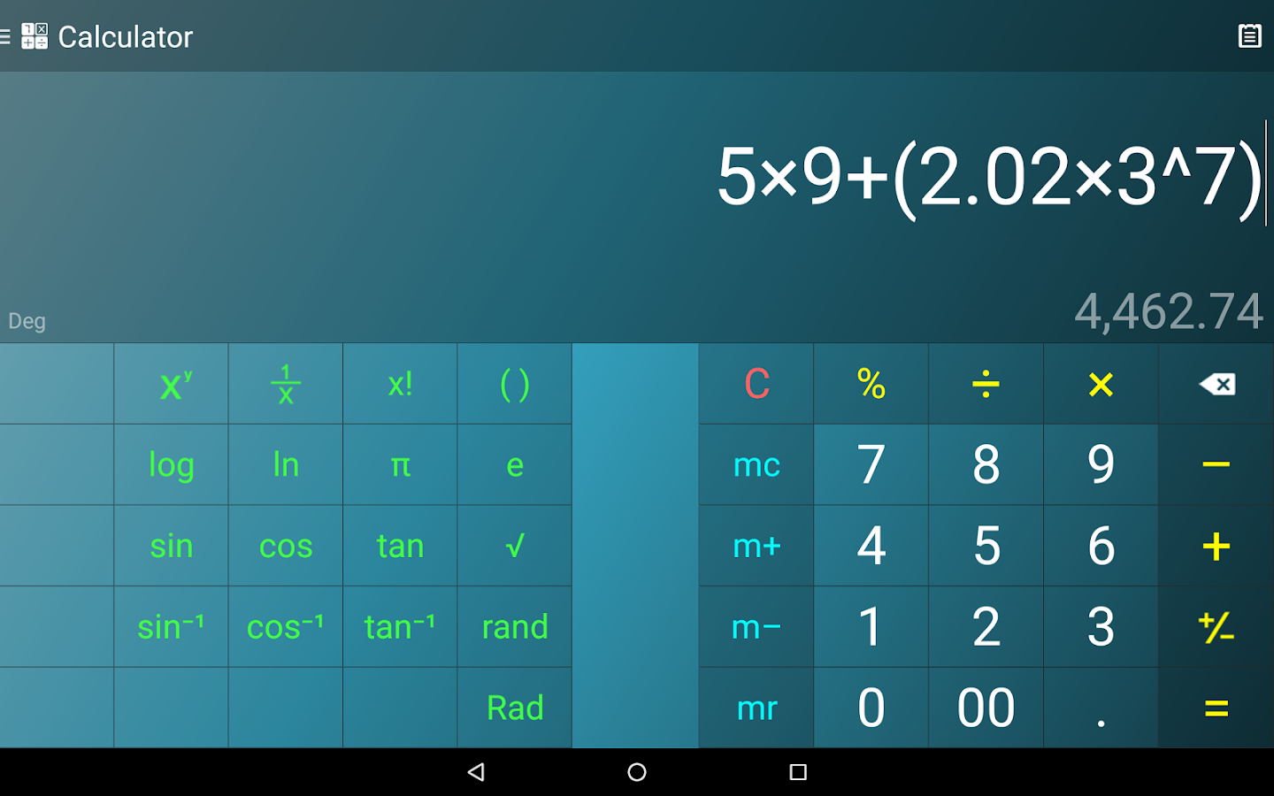 Multi Calculator Screenshot 10