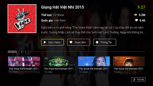 Zing TV for Android TV screenshot 4