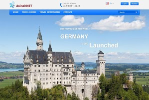 Screenshot of AsinahNET Travel Guides