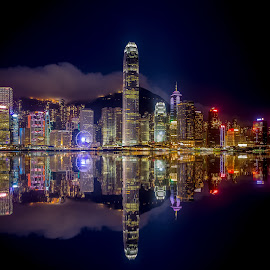 Hong Kong Skyline by Dmitriy Andreyev - City,  Street & Park  Skylines (  )