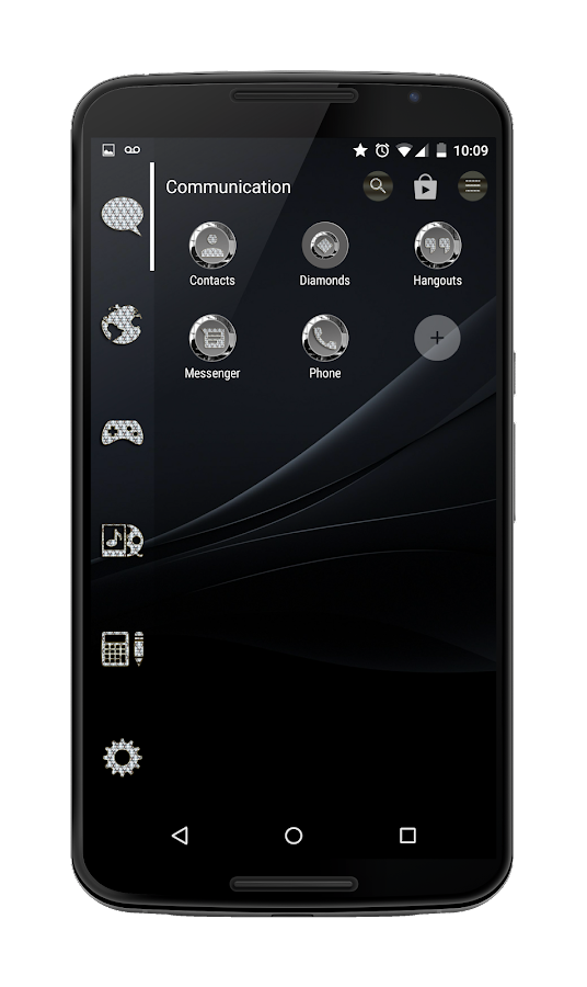 Diamonds Round Icon Pack Screenshot 3