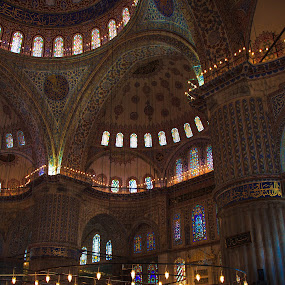 Prayer Time in the Blue Mosque by Tom Howes - Buildings & Architecture Places of Worship ( 2013, turkey )