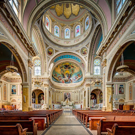 St. Mary of the Angels Interior by John Williams - Buildings & Architecture Places of Worship ( catholic parish, architectural detail, interior architecture, catholic cathedral, places of worship )