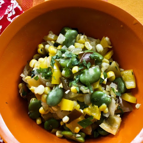 Sweet Red Pepper Summer Succotash