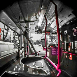 Public bus by Wing Yin Cheong - Transportation Other ( bus, driver sit, front, public, internal )