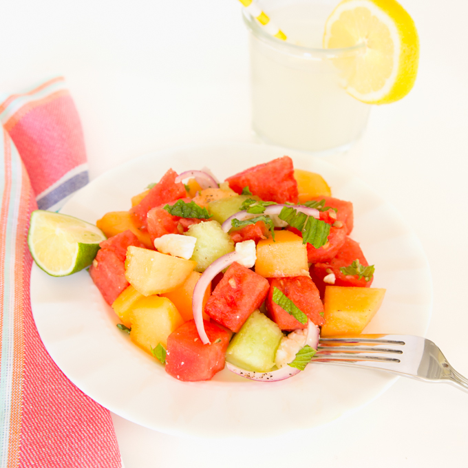 Melon Feta Salad Recipe | Yummly