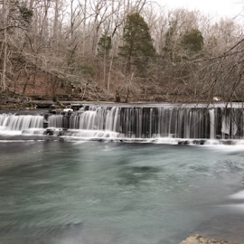 Middle Falls by John Ray - Instagram & Mobile iPhone ( duck river, old stone fort state park, iphone 7 plus, tennessee, long exposure, manchester )