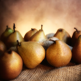 pears... by Tanya Popove - Food & Drink Fruits & Vegetables ( fruit, life, art, pears, still )