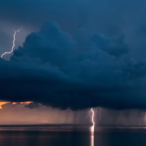 Sunset thunderstorm by Ivan Stulic - Landscapes Weather