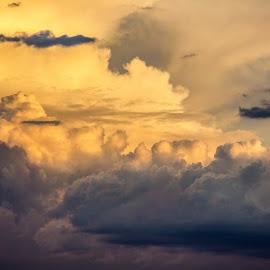 Orange Fluffiest!  by Joel Hanger - Landscapes Weather ( clouds, orange, monsoon, arizona, cumulonimbus, weather )