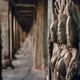 Angkor Wat by Bendik Møller - Buildings & Architecture Statues & Monuments ( structure, leading lines, statues, asia, stone, angkor, travel, architecture, built, angkor wat, travel photography )