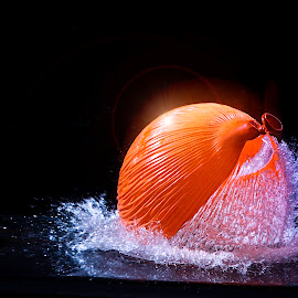 pop! by Alan Payne - Abstract Water Drops & Splashes ( water, flash, burst, high speed flash, balloon )