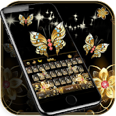 App Gold butterfly Keyboard Theme APK for Windows Phone