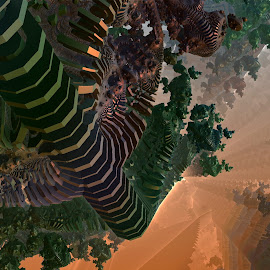 Zebra Hunting by Rick Eskridge - Illustration Sci Fi & Fantasy ( fantasy, image, mb3d, fractal, twisted brush )