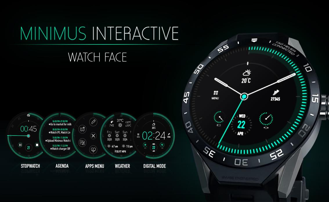 Minimus Interactive Watch Face Screenshot 0