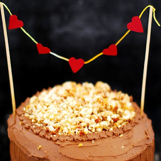 Chocolate Cake With Nutella Icing And Hazelnut Praline