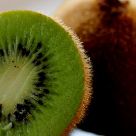 Kiwi fruit by Renata Ivanovic - Nature Up Close Gardens & Produce ( fruit, nature, green, kiwi, close up )