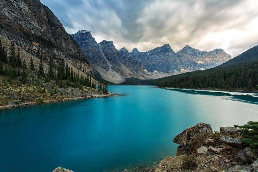 The Valley of Ten Peaks by Joey Javier - Landscapes Mountains & Hills ( mountain, alberta, lake, banff, moraine )