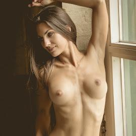 Window by Jim Devonshire - Nudes & Boudoir Artistic Nude ( natural light, sexy, nude, brenda kucerova, breasts )