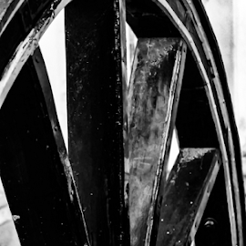 Wheel of Life by Ajith Iddya - Artistic Objects Other Objects ( wooden, wheel, antique, black and white, frame,  )