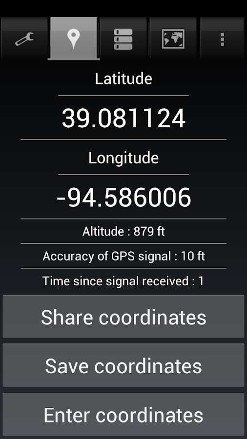 Share My GPS Coordinates Pro Screenshot 4