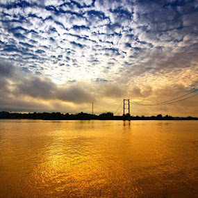 Mahakam River this morning by Taufiqurakhman Ab - Landscapes Sunsets & Sunrises