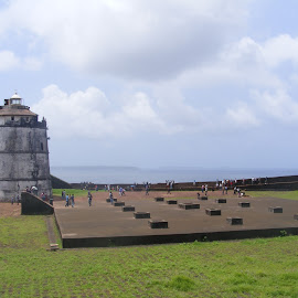 Abundant Lighthouse of Fort Aguada by Mou Chakravarty - Buildings & Architecture Statues & Monuments ( lighthouse, fort )