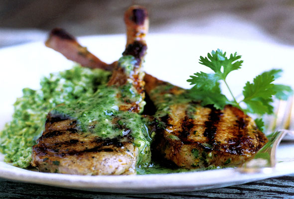 Lamb Chops with Cilantro-Mint Sauce Recipe | Yummly