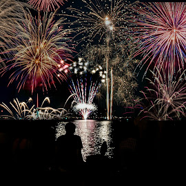 Lake George, New York by Ruth Sano - Public Holidays July 4th ( lake george, fireworks, 4th of july,  )