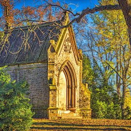 A Spring Grove Mausoleum by Pat Lasley - City,  Street & Park  Cemeteries ( spring grove, mausoleum, cemetery, crypt )