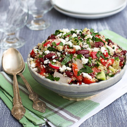 Quinoa Salad with Red Beans and Feta