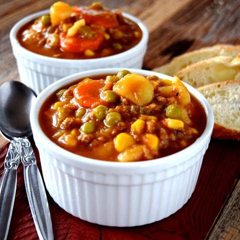 Hamburger Stew - Vegetarian Version!