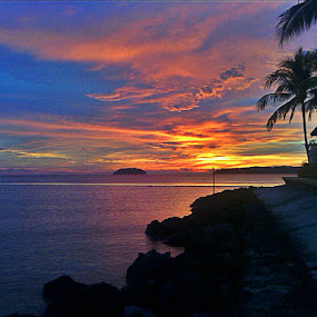 Sunset @ Tg. Aru Beach, Kota Kinabalu by Gracie Ho - Instagram & Mobile Android