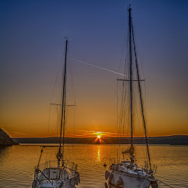 two sailingboats by Eseker RI - Transportation Boats (  )