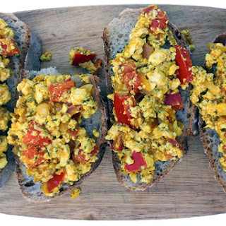 French Tofu Scramble Tartines [vegan]
