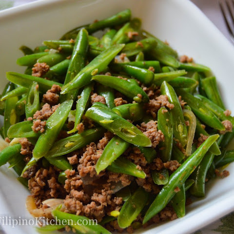Sautéed Green Beans With Ground Beef (Filipino-style Ginisang Baguio Beans)