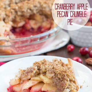 Cranberry Apple Pecan Crumble Pie