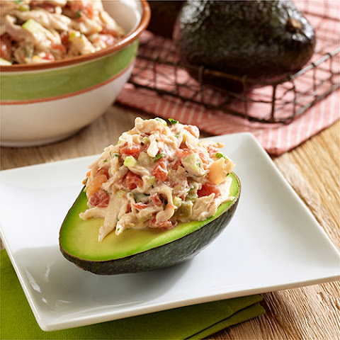 Mexican Chicken Salad Stuffed Avocados