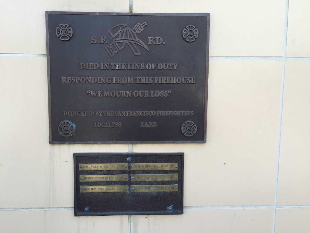 S.F.F.D DIED IN THE LINE OF DUTYRESPONDING FROM THIS FIREHOUSE