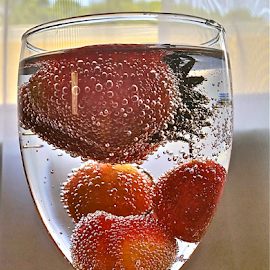 by Jeffrey Lee - Food & Drink Alcohol & Drinks ( { strawberry ~ n ~ cherry's in my champagne ~ 6 july },  )