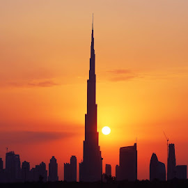 Sunset Dubai by Samir Belhocine - Buildings & Architecture Bridges & Suspended Structures ( dubai, uae, dubai marina, dubai wedding, dubai photographer )