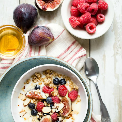 Breakfast Yogurt with Granola, Figs and Berries