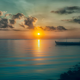 THE SUN RISING by Aad S. Ahmad - Landscapes Sunsets & Sunrises