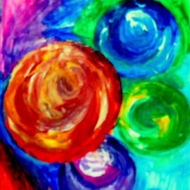 Imagination creates marbles by Livia Copaceanu - Painting All Painting ( abstract, marbles, imagination, painting )